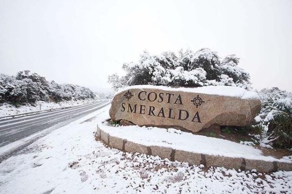 Neve al sud, Costa Smeralda innevata