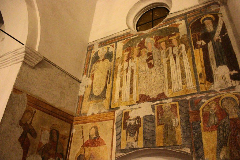 Laterza, affreschi all'interno della chiesa di San Lorenzo Martire