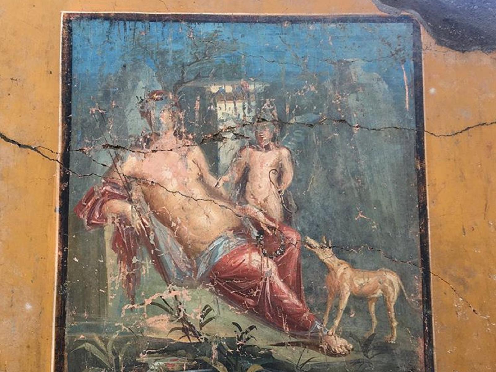 Pompei: scoperto l'affresco di Narciso