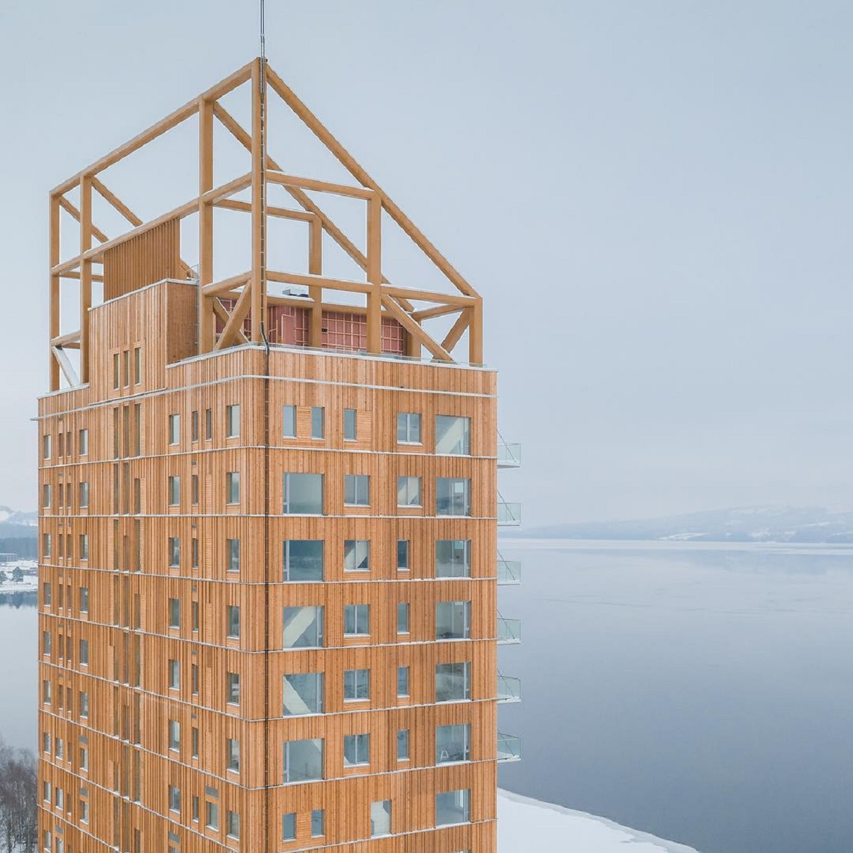 Norvegia grattacielo legno più alto del mondo