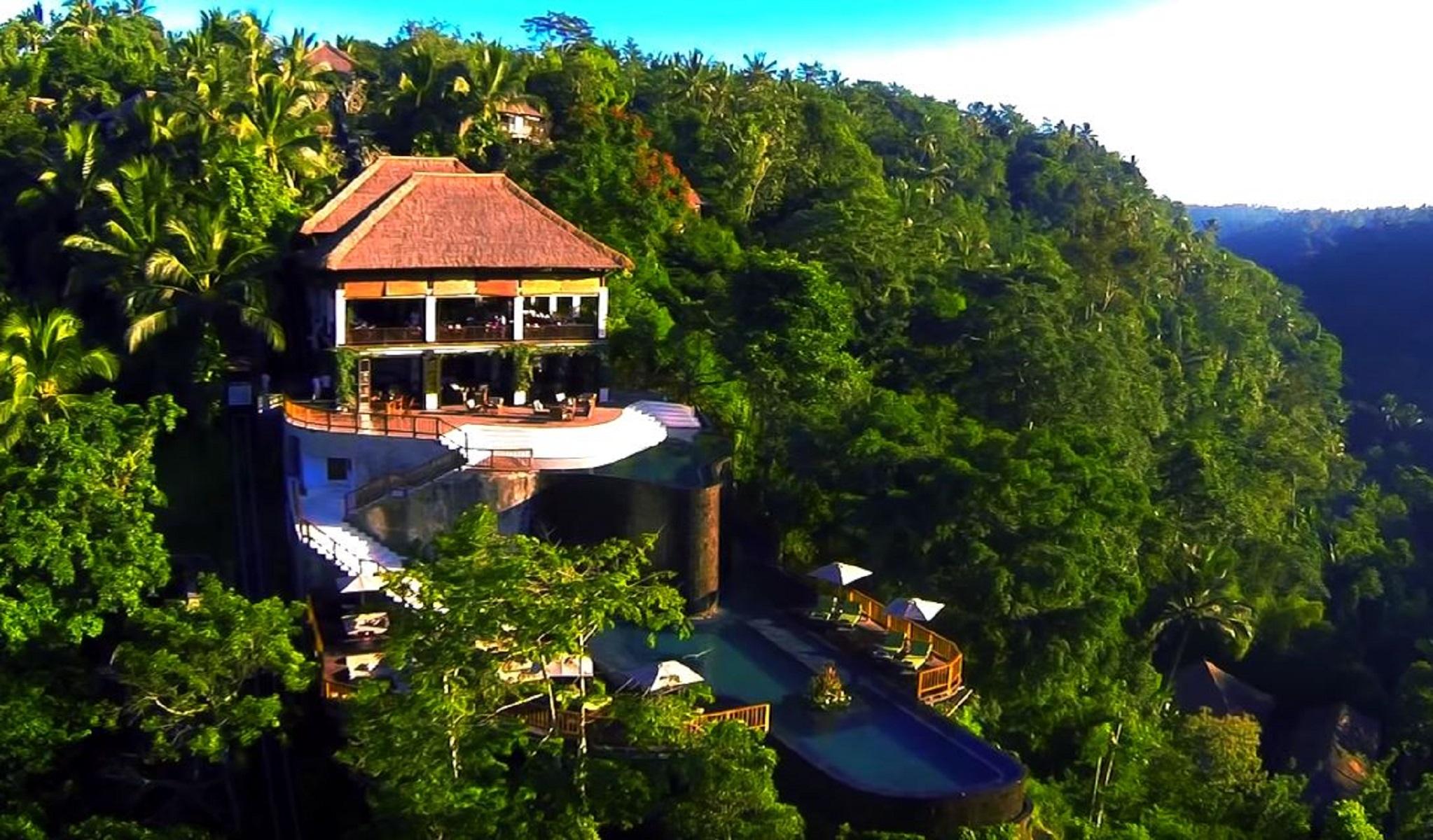 Hanging garden Bali, l'albergo con la miglior vista del mondo