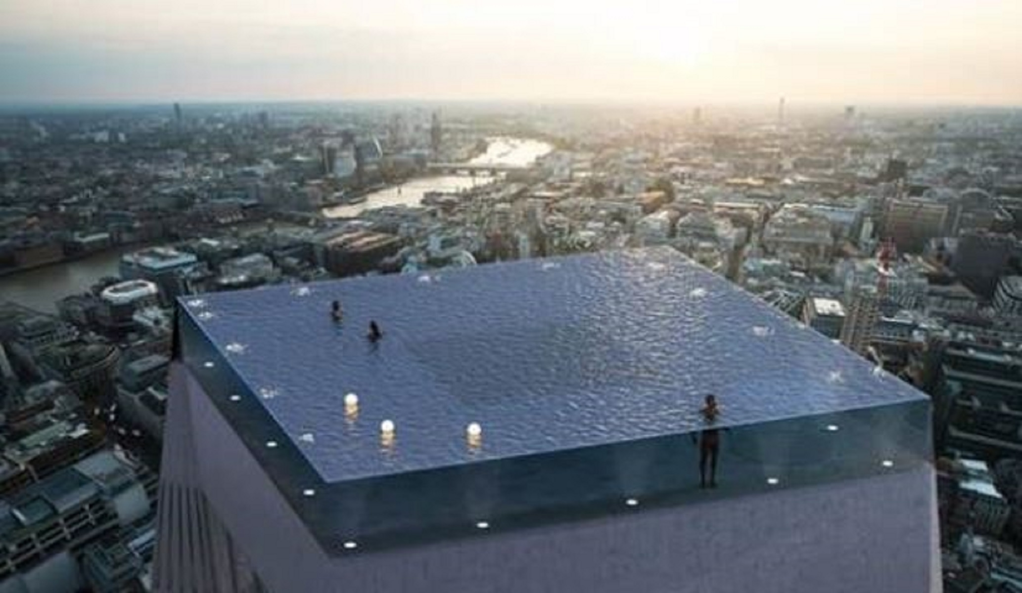 Londra, la piscina più bella al mondo con vista sullo Skyline