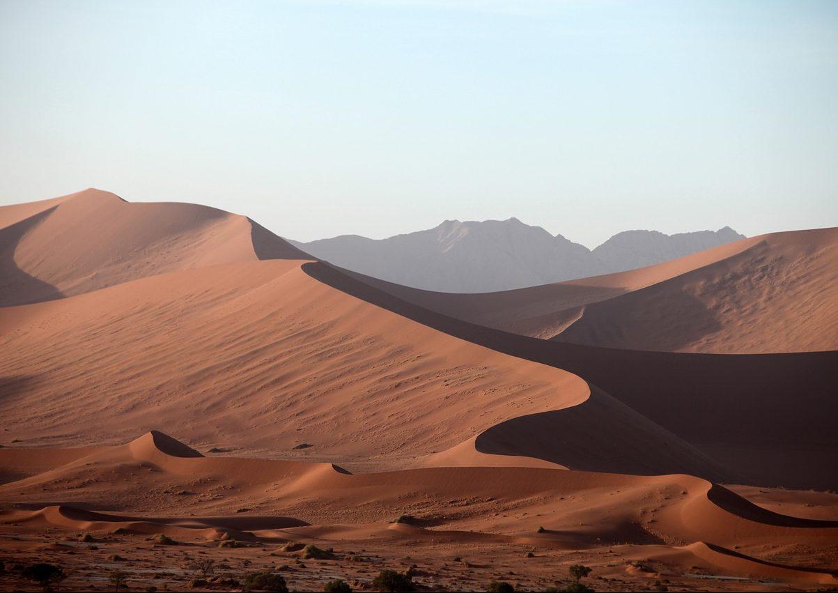 sabbia del deserto rossa