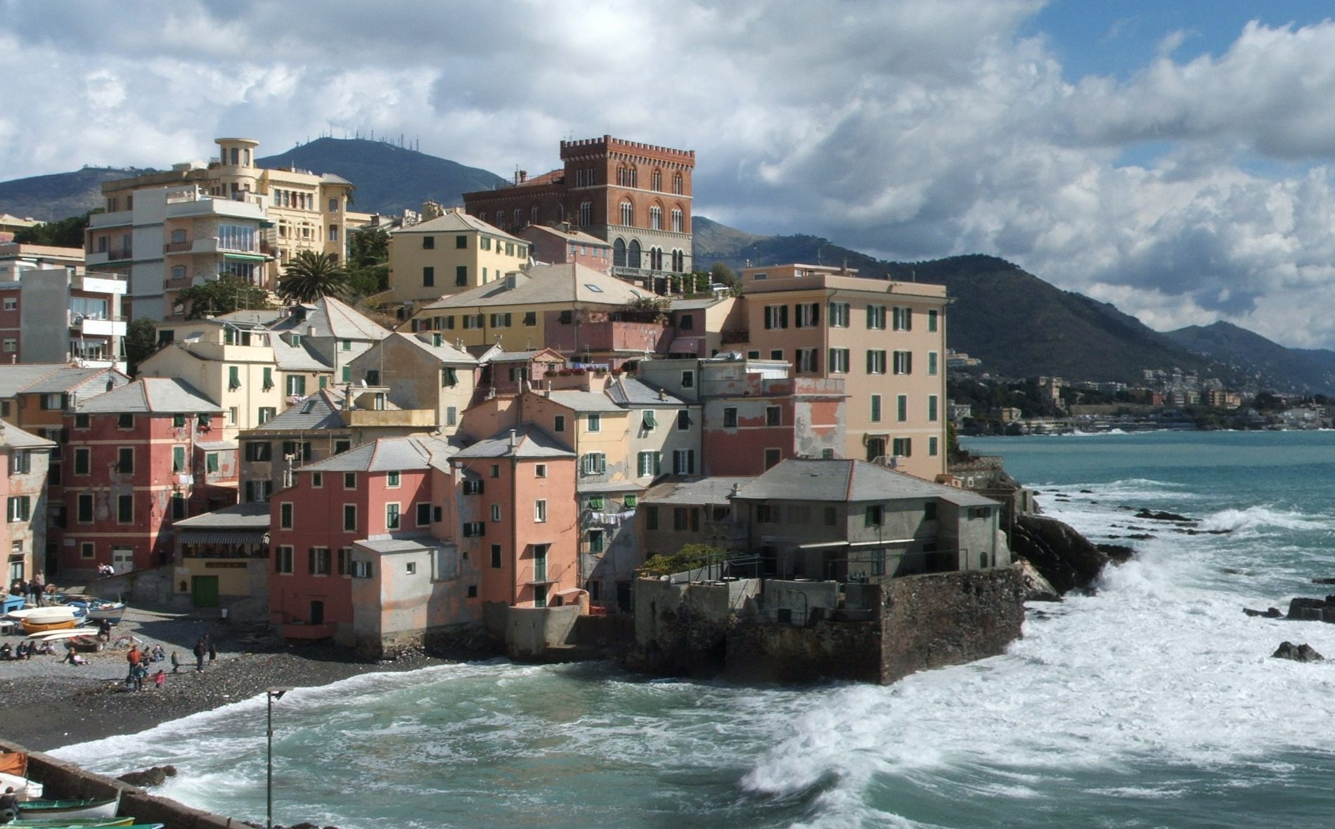 Spiagge di Genova vicino all'Acquario