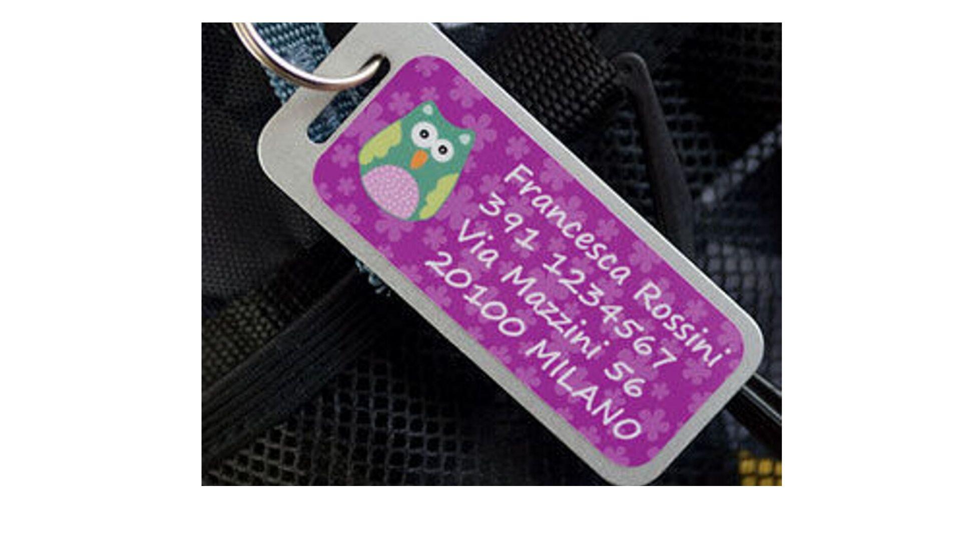 etichette bagagli