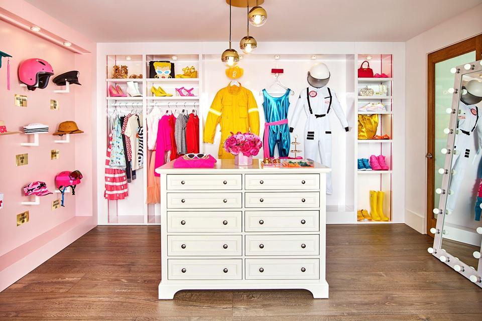 Armadio della casa di Barbie a Malibu