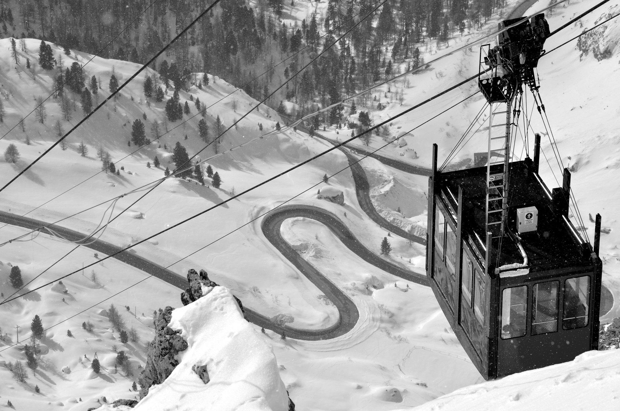 piste da sci a Corvara Alta Badia