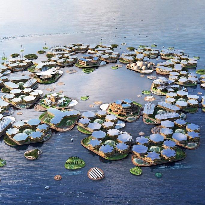 Vista di Oceanix City