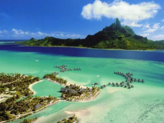 Atollo in Polinesia