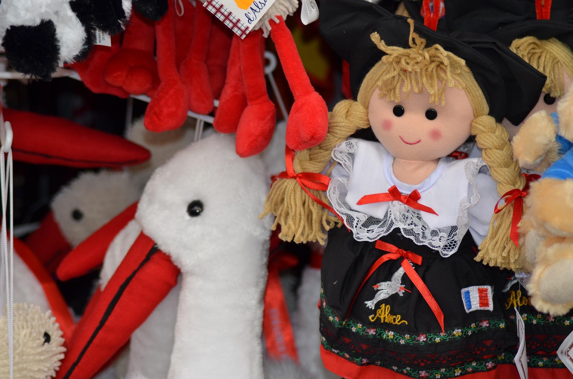 Bambola Tradizionale Alsazia - Mercatini di Natale a Strasburgo