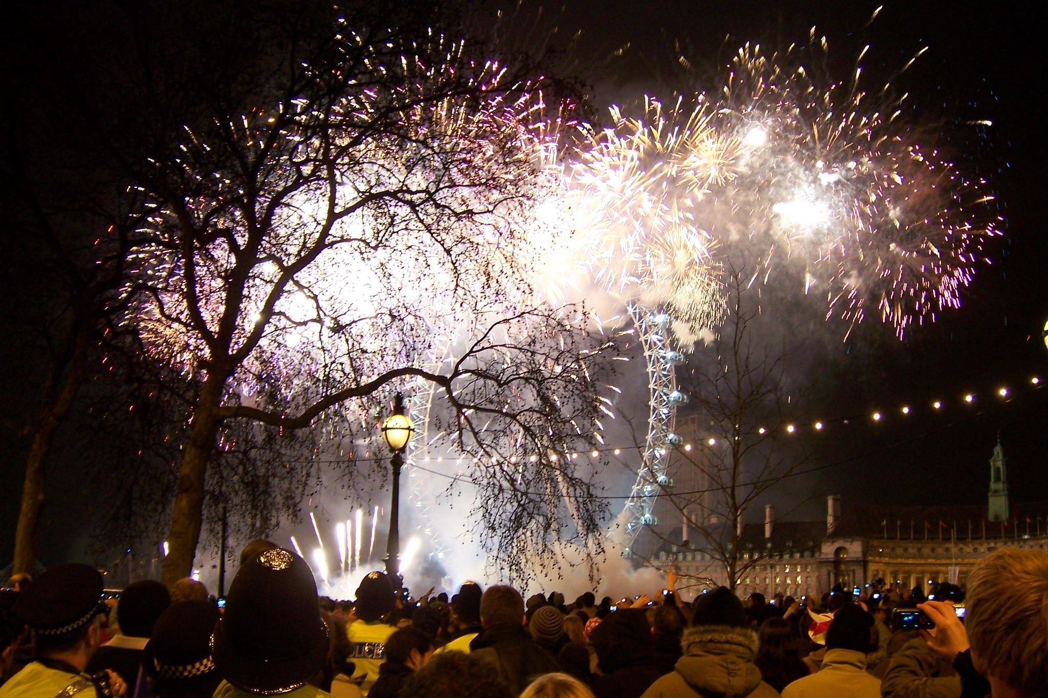 Cenone di Capodanno a Londra nel 2020