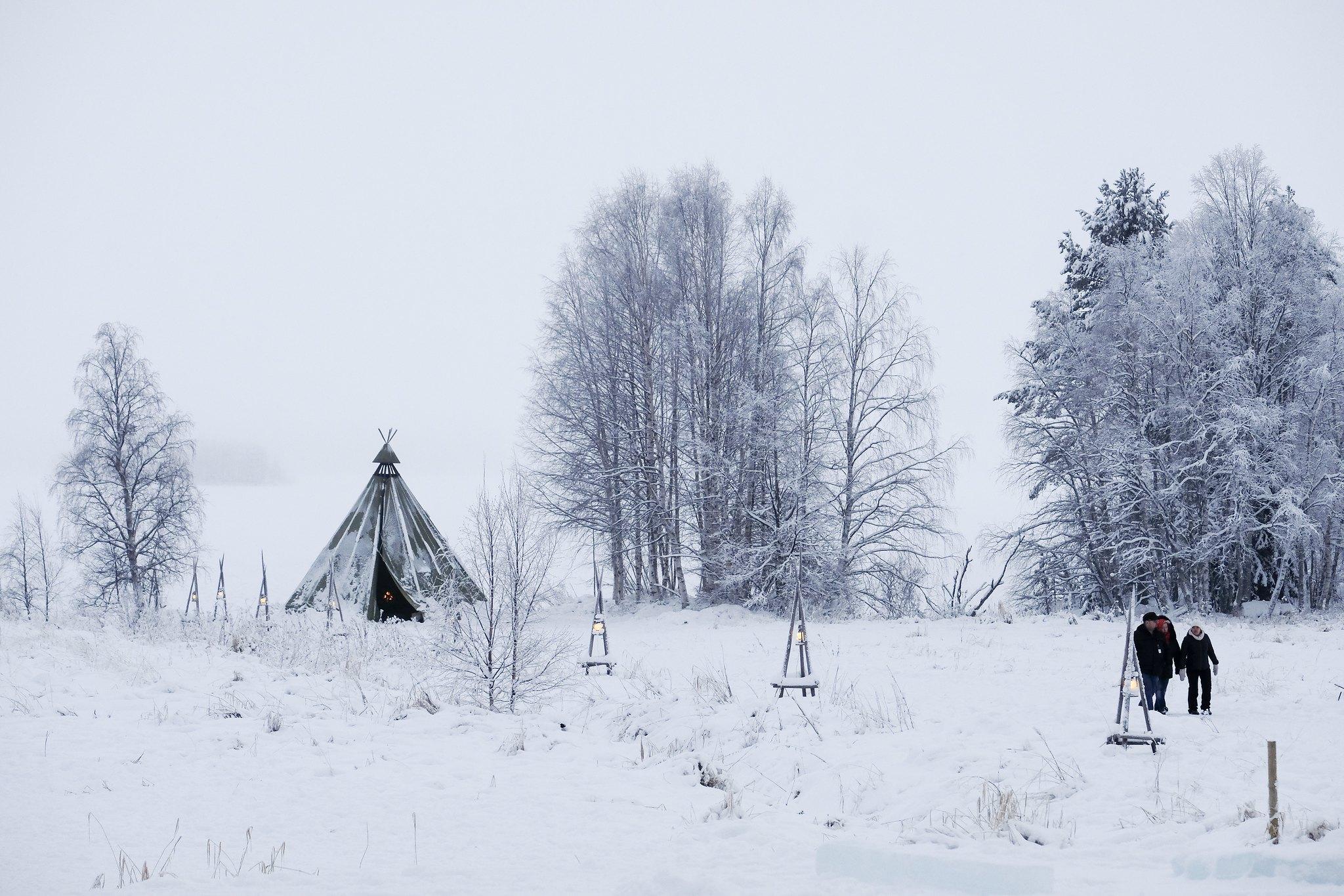 primo dell'anno a Rovaniemi