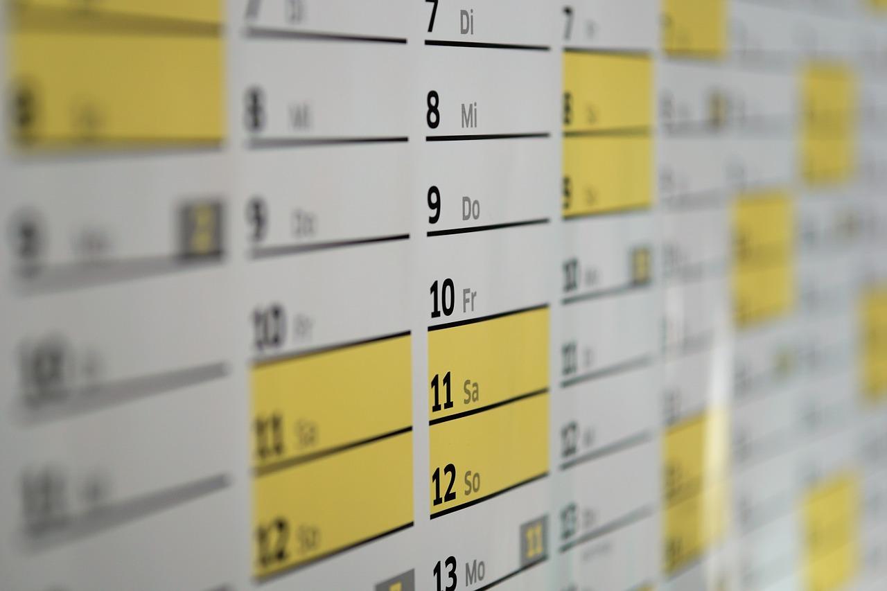 Calendario febbraio 2020 con festività