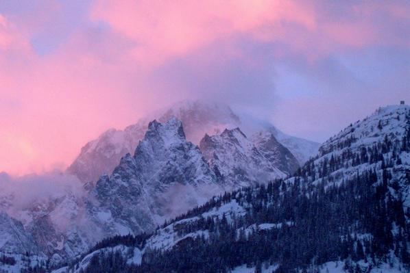 cena sulle alpi