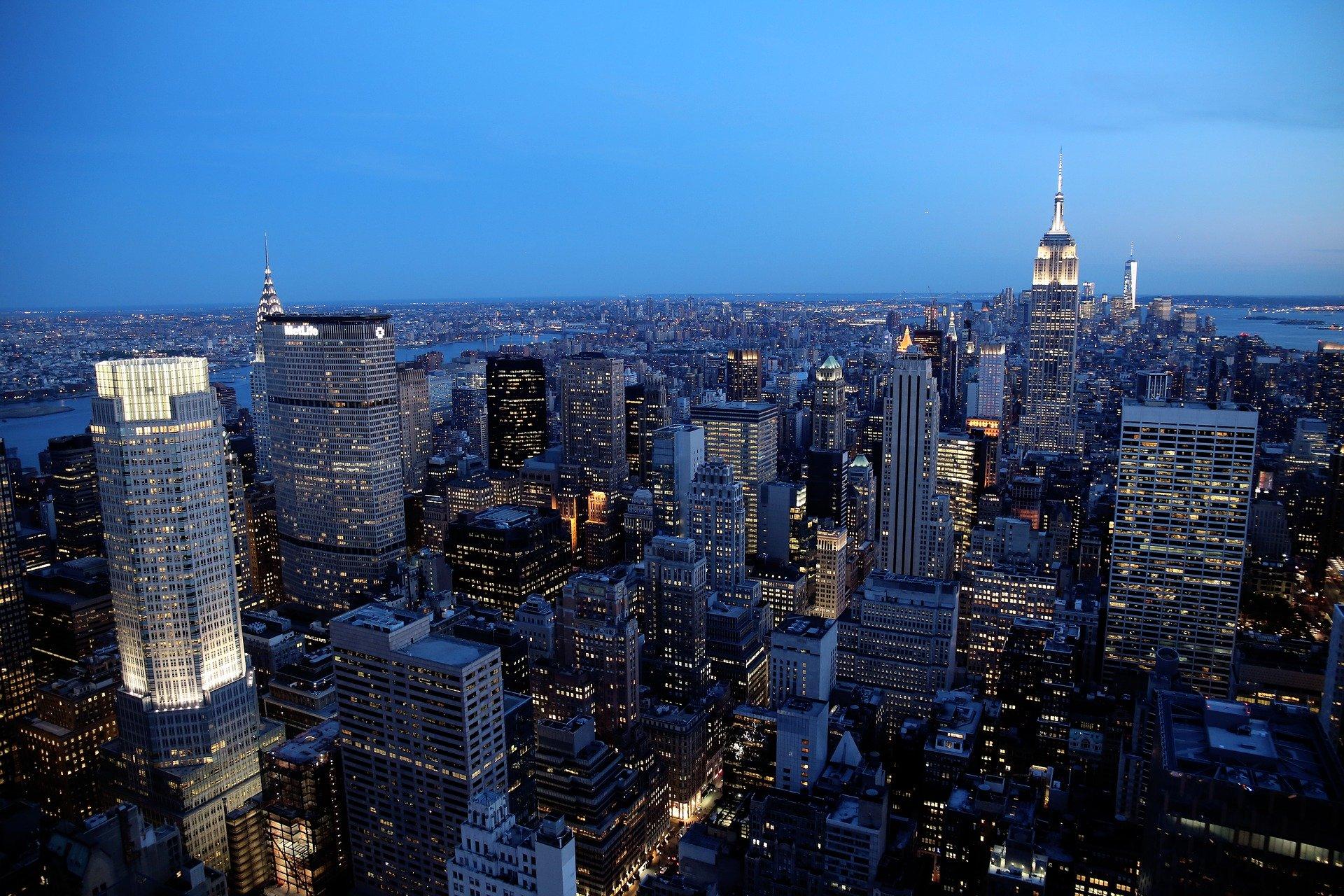 New York vista dall'alto Grande Mela