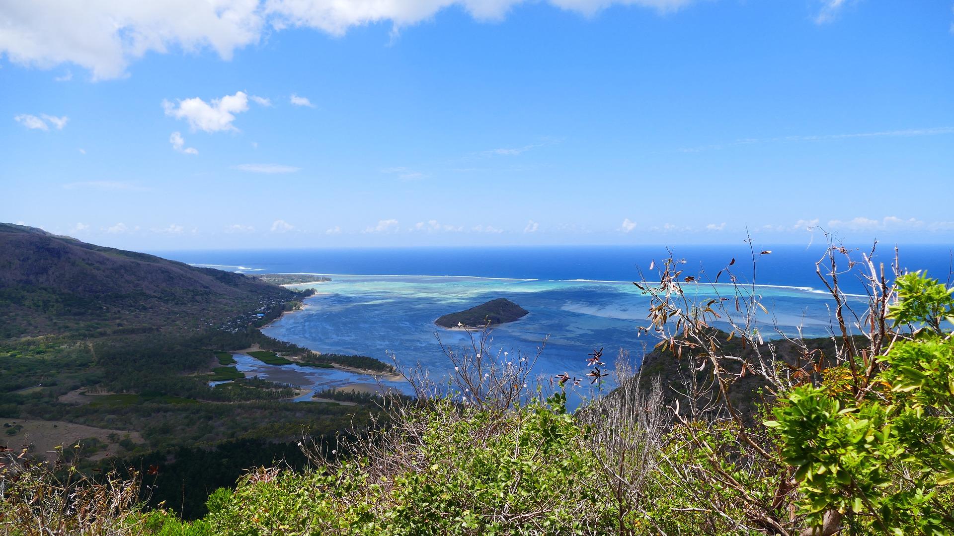 cascata sottomarina di mauritius