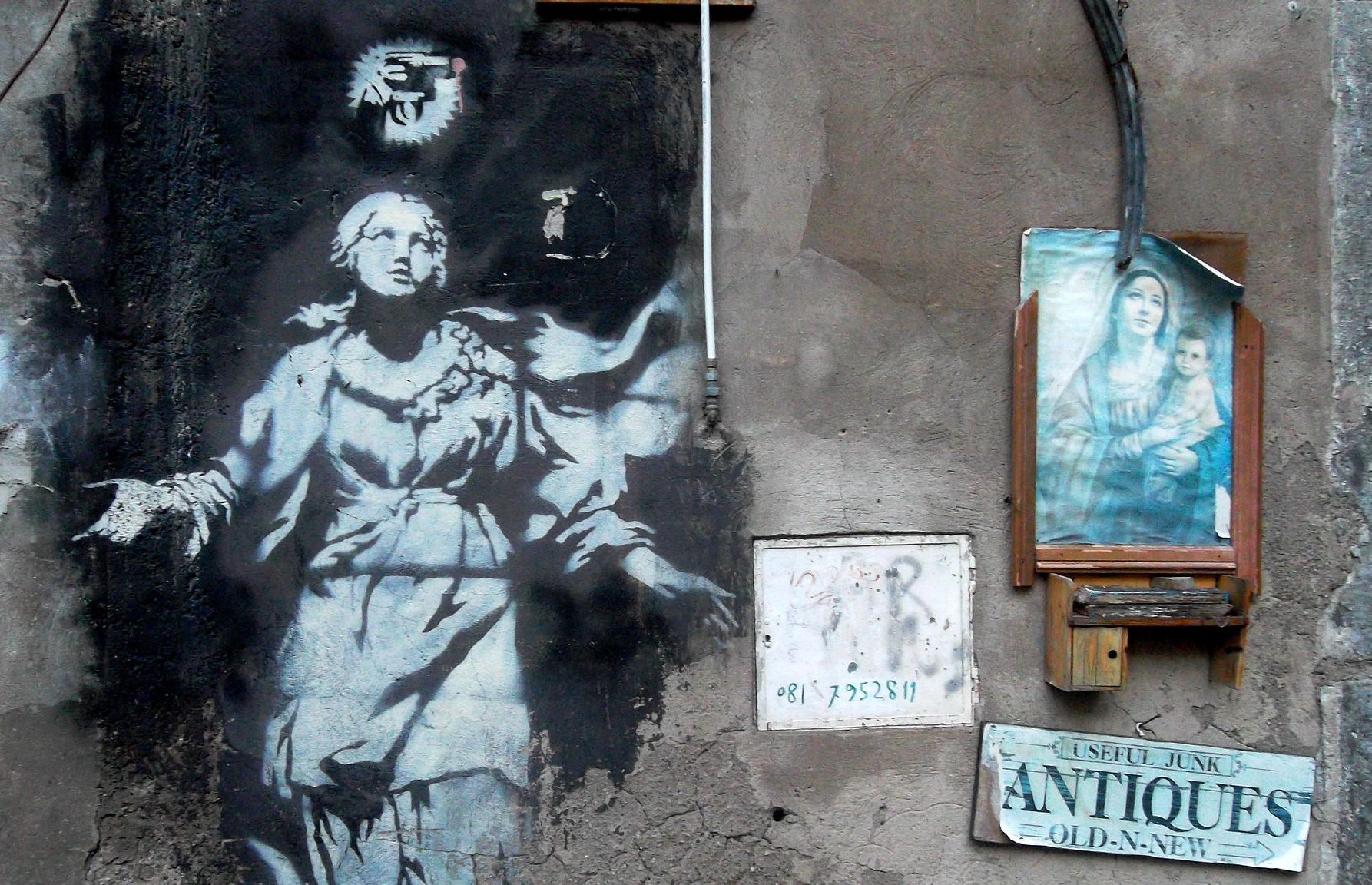 banksy opere in italia