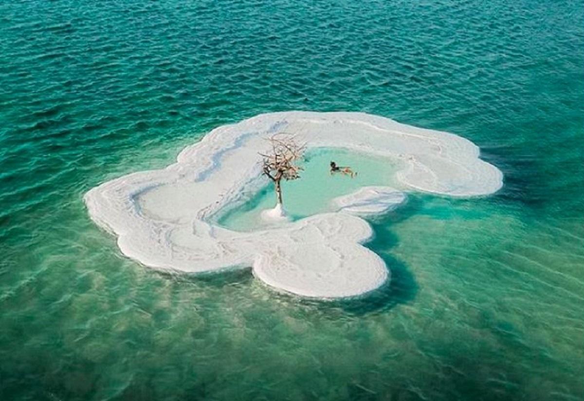 isola di sale mar morto