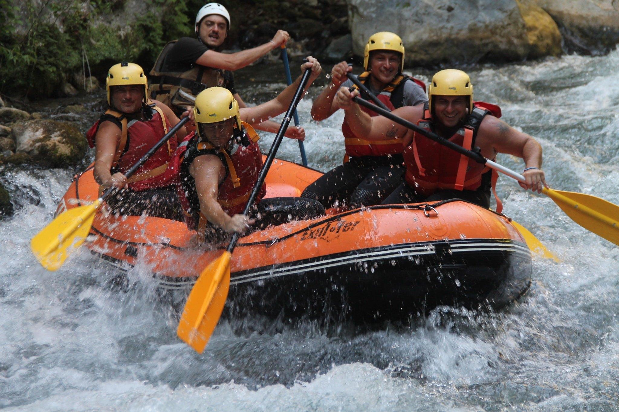 rafting in calabria sul fiume lao
