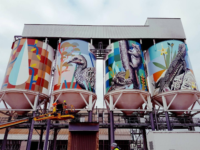 street art silos australia