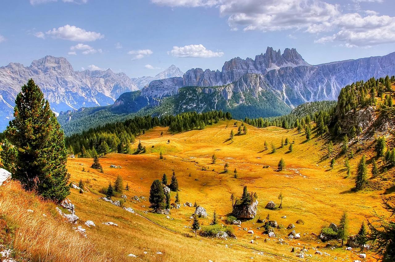 Cortina d'Ampezzo in autunno