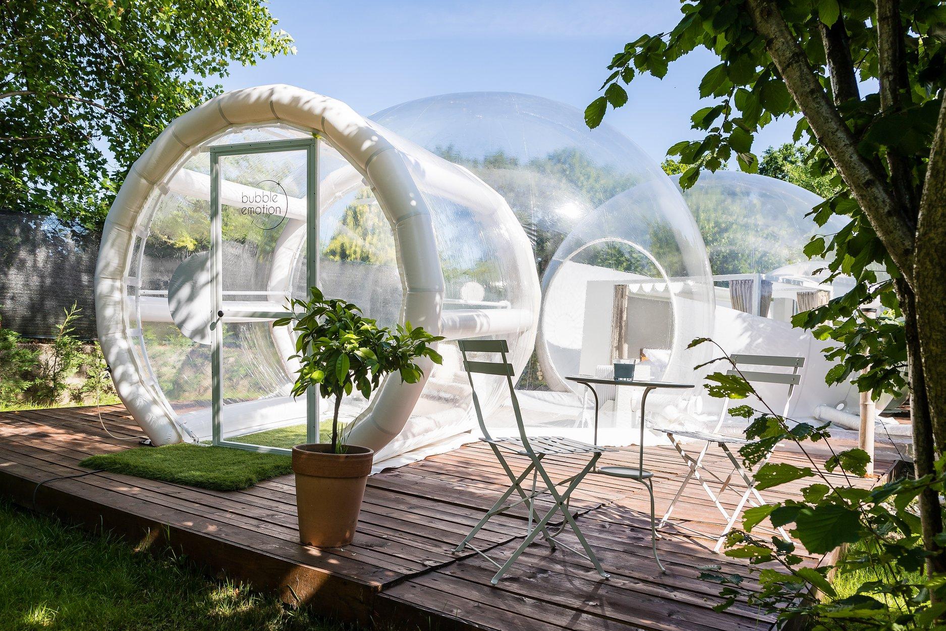 glamping bolla trasparente italia