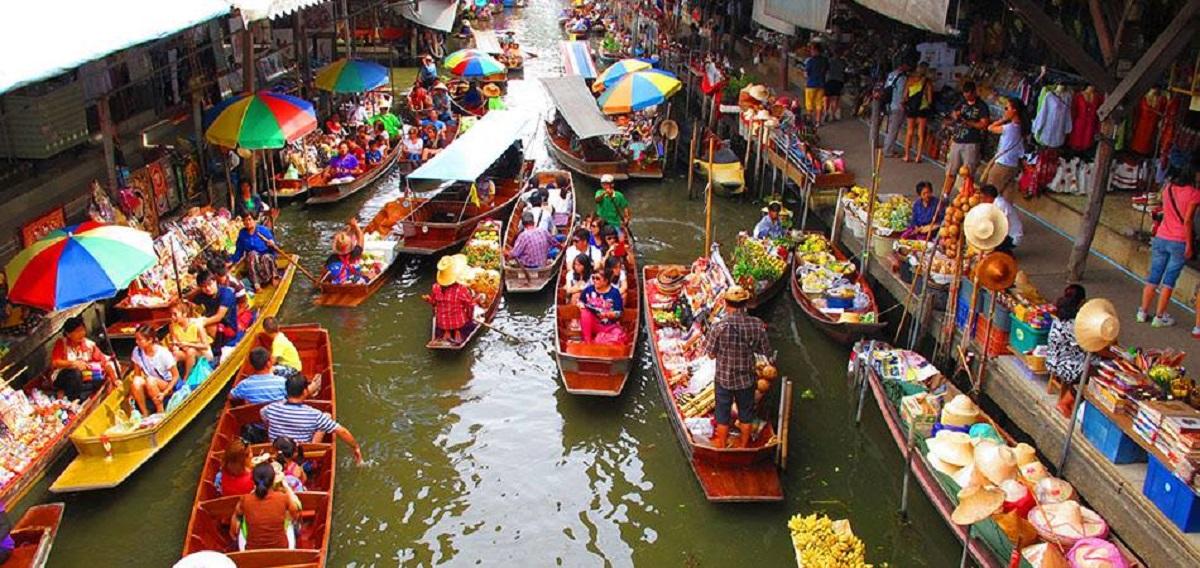 mercato galleggiante bangkok come arrivare
