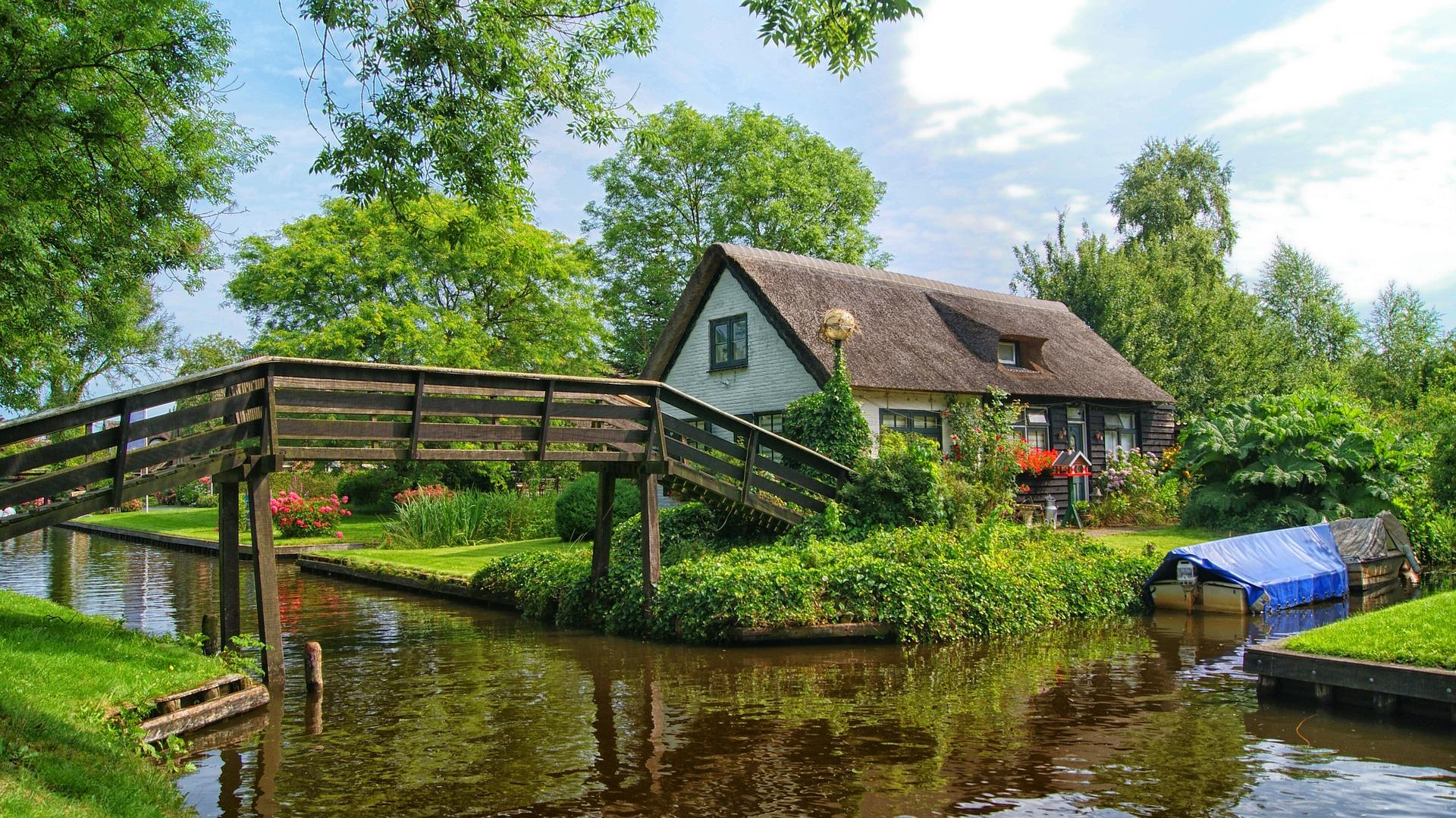 paese sull'acqua in olanda