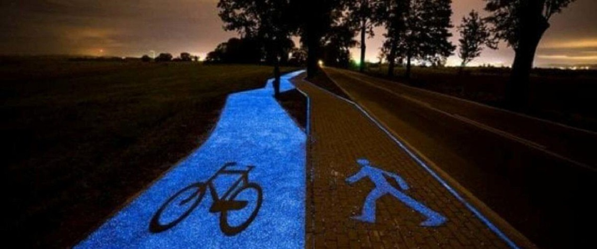 pavia pista ciclabile illuminata