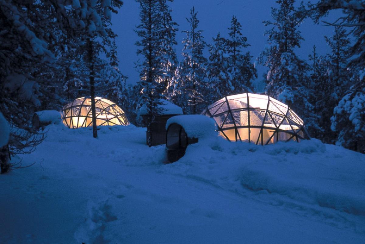 Lapponia finlandese igloo di vetro