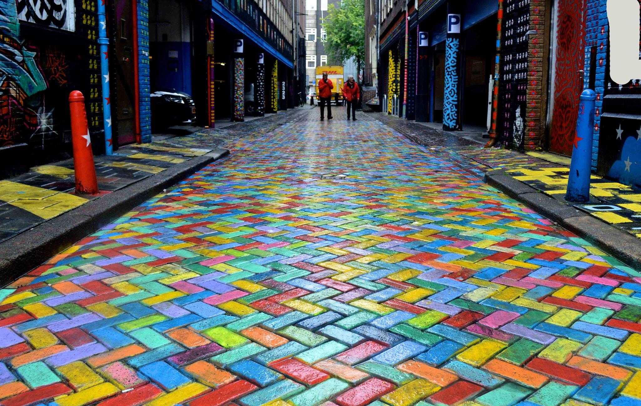 strade colorate amsterdam