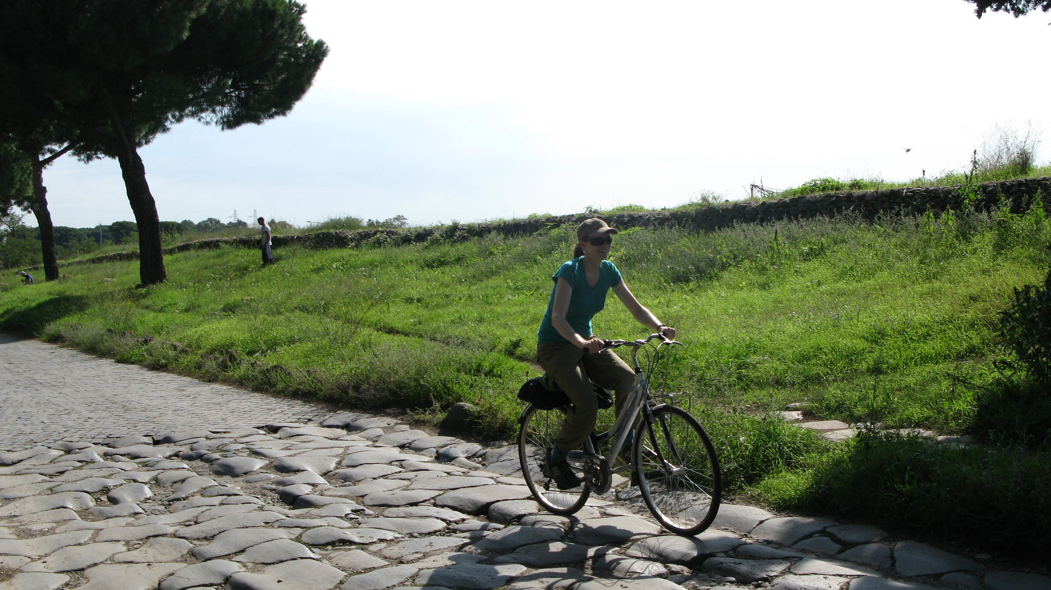 via appia antica percorso in bici