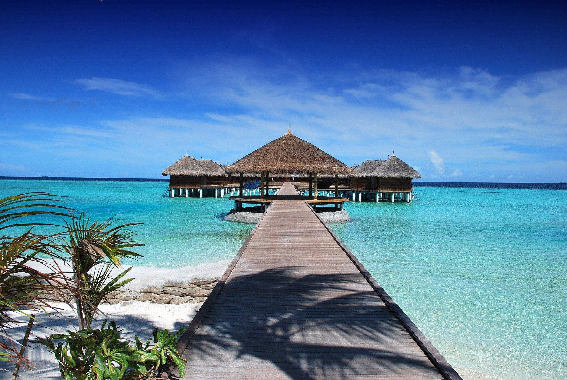 maldive bungalow per un anno