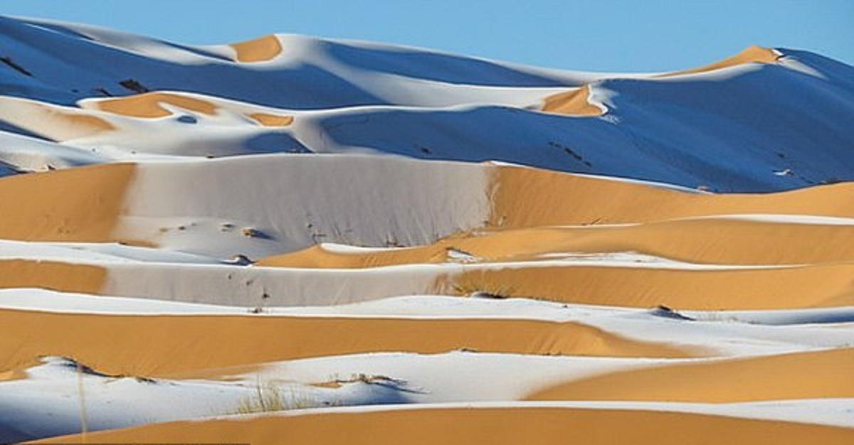 deserto sahara neve