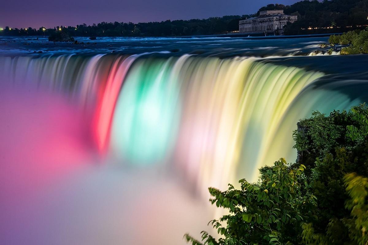 Festival luci cascate Niagara