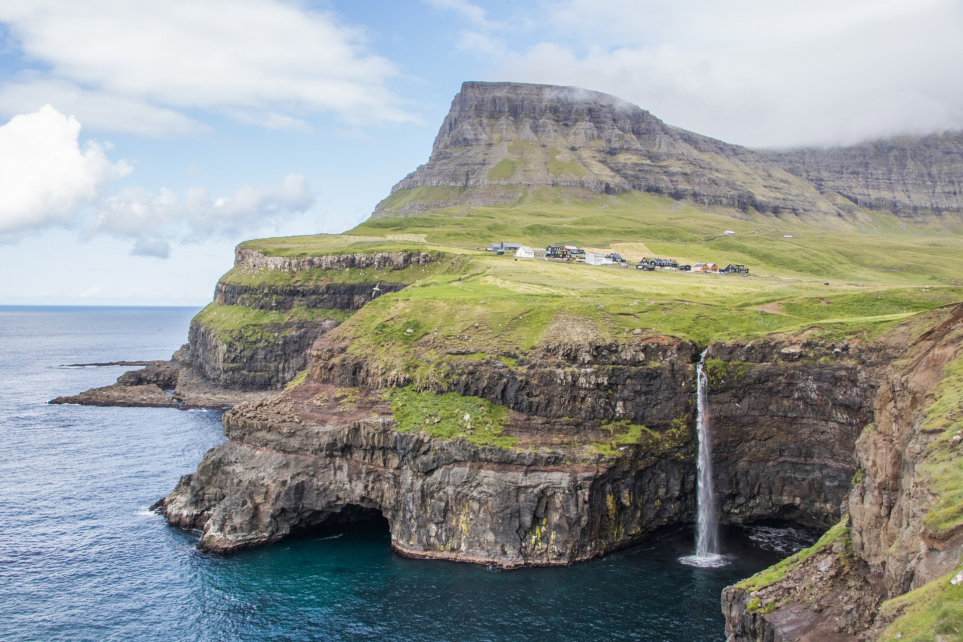 La cascata Múlafossur - Isole Faroe