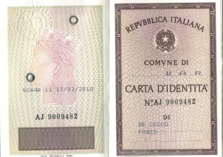 Come avere carta identit valida per espatrio for Quanto costa aggiornare la carta di soggiorno